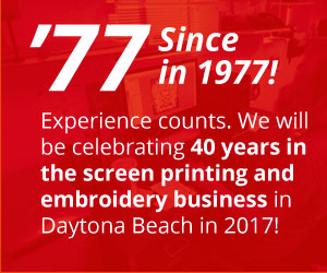 Mid Florida Sportswear Custom Embroidery Daytona Screen Printing Callout Established in 1977